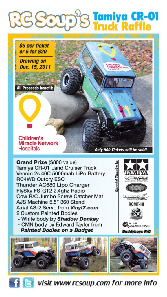 flyer1 577x1024 RC Soups Tamiya CR01 Raffle