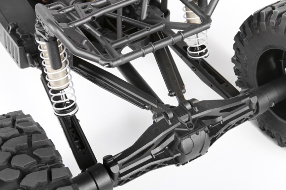 4-LINKED REAR SUSPENSION The Yeti XL™ features the massive AR60 XL™ solid rear axle with 4-linked rear suspension. The Yeti XL™ chassis offers multiple upper link positions to adjust the anti-squat. These tuning options will help you get the most performance from your rig.